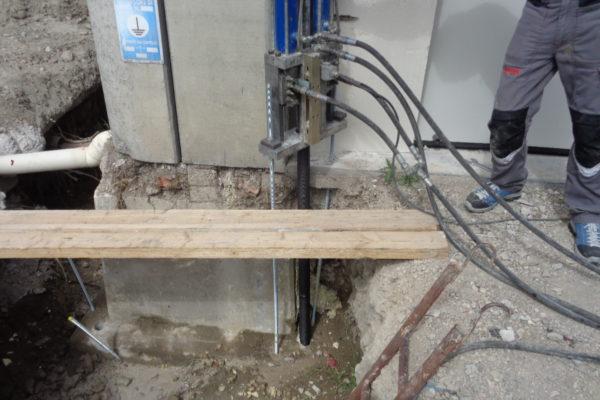 edilizia micro pali con precarica